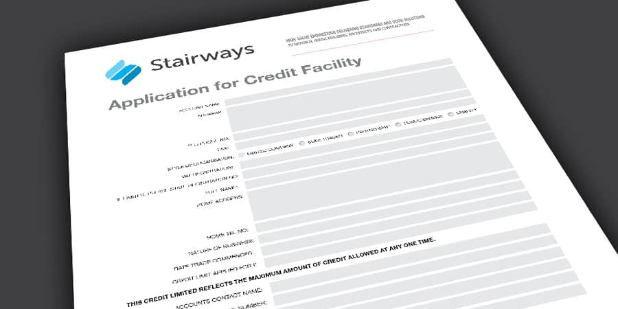 Stairways credit facility application form