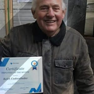 Stairways Employee of the month – Keith Cadwallder