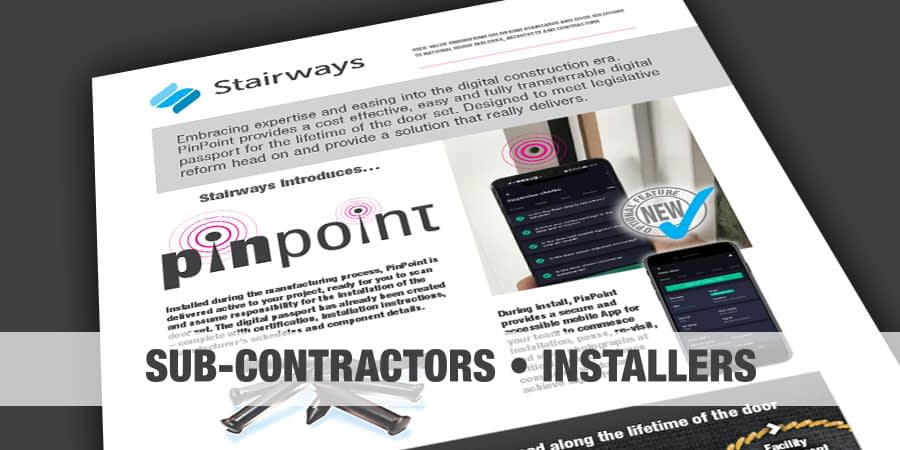 Stairways PinPoint (subcontractors and installers)