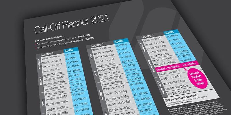 Stairways Call-Off planner