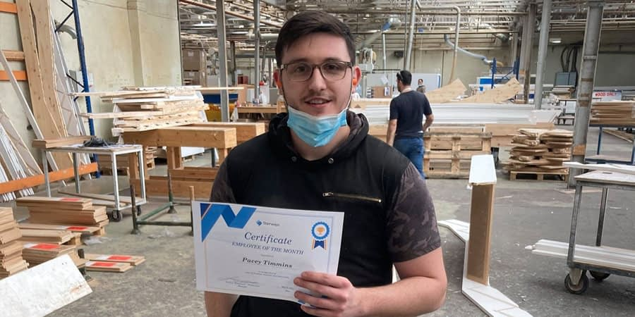 Stairways Employee of the month – Pacey Timms
