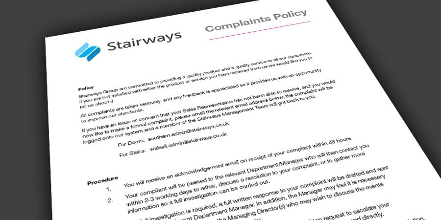 Stairways Complaints Policy