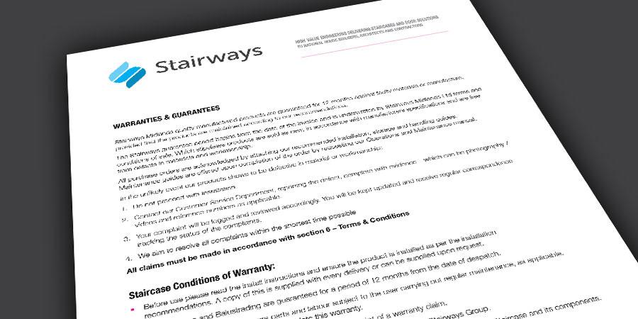 Stairways warranties and guarantee