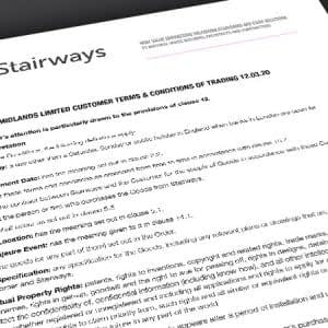 Stairways Terms and Conditions of Trading