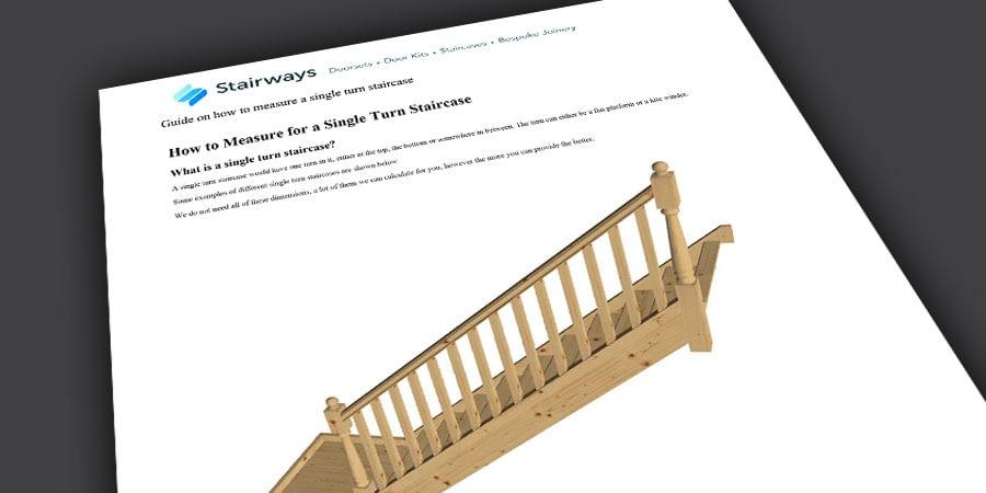 Stairways Single Winder Turn Staircase Measuring Guide